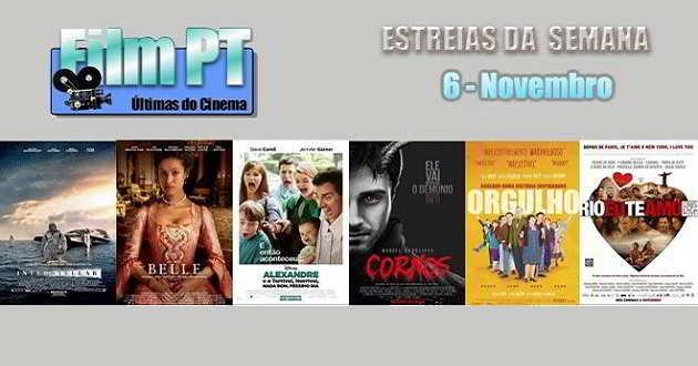 Estreias da Semana: 6 de novembro de 2014