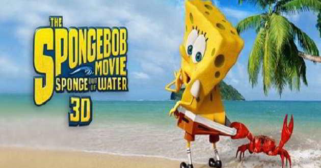 Pósteres individuais de dois personagens do filme 'SpongeBob: Esponja Fora de Água'