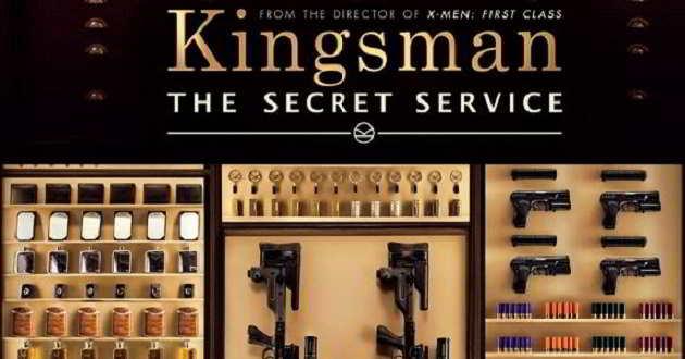 Cartazes de quatro personagens do filme 'Kingsman: Serviços Secretos'