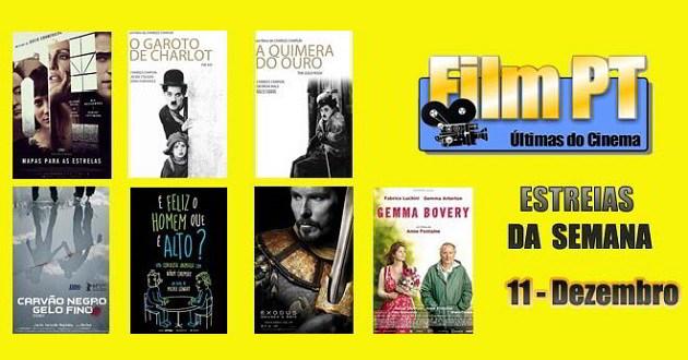 Estreias de Filmes da Semana:11 de Dezembro de 2014