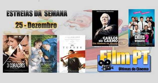 Estreia de filmes da semana: 25 de dezembro de 2014