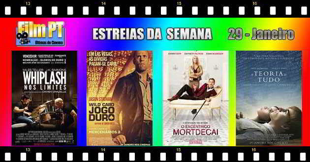 Estreias de filmes da semana: 29 de janeiro de 2015