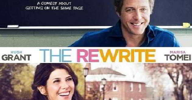 Veja o poster e o primeiro trailer com Hugh Grant em 'The Rewrite'