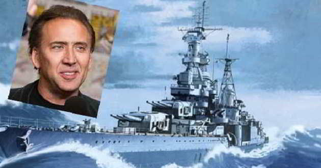 'USS Indianapolis: Men of Courage': Mais um para Nicolas Cage