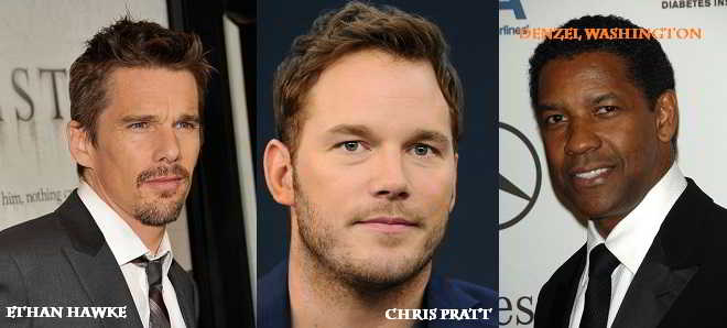 Chris Pratt, Ethan Hawke e Denzel Washington no remake de 'Os Sete Magníficos'