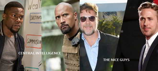 Novas datas de estreia para 'Central Intelligence' e 'The Nice Guys'