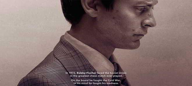 Primeiro poster do filme sobre a maior partida de xadrez, 'Pawn Sacrifice'