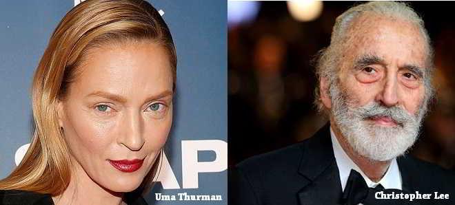Uma Thurman junta-se a Christopher Lee no elenco do drama 'The 11th'