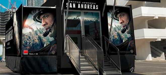 Experimente o efeito de um terramoto no camião 'San Andreas'