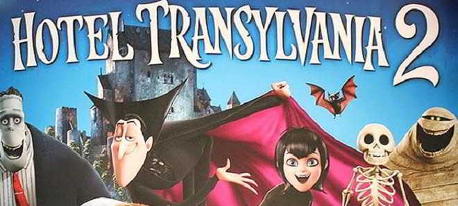 Novo poster internacional da animação 'Hotel Transylvania 2'
