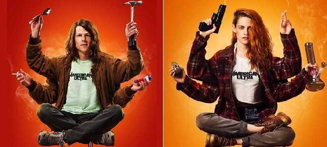American Ultra: Novos posters com Jesse Eisenberg e Kristen Stewart