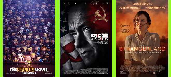 Novos posters: Snoopy & Charles Brown, Strangerland e A Ponte dos Espiões