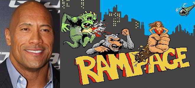 Dwayne Johnson vai protagonizar a adaptação do jogo 'Rampage'