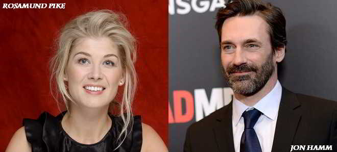 Rosamund Pike e Jon Hamm no elenco do thriller político 'High Wire Act'