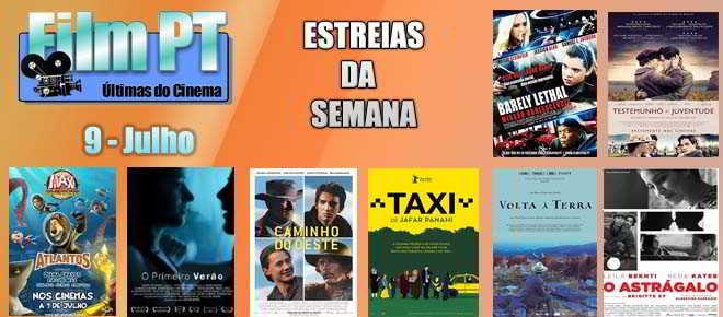 Estreias de Filmes da Semana: 9 de Julho de 2015