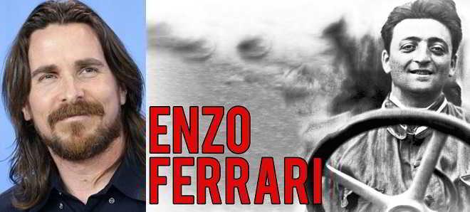 Christian Bale vai protagonizar a cinebiografia de Enzo Ferrari