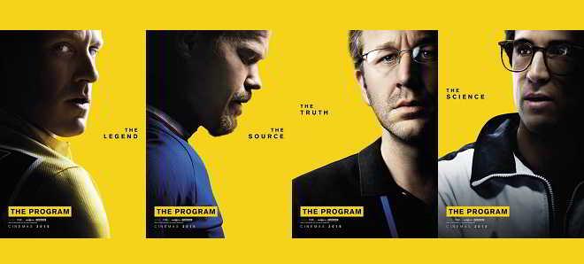 Divulgados quatro posters individuais de 'The Program'