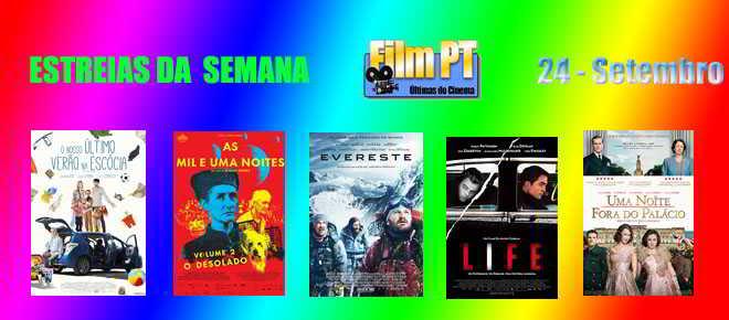 Estreia de Filmes da Semana: 24 de Setembro de 2015