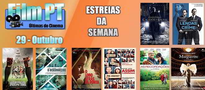 Estreias de Filmes da Semana: 29 de Outubro de 2015