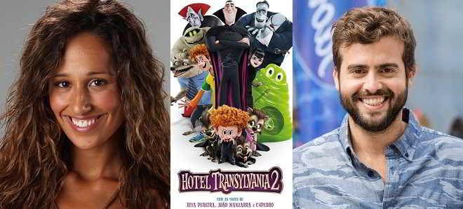 Veja Rita Pereira e João Manzarra no Making Of de 'Hotel Transylvania 2'