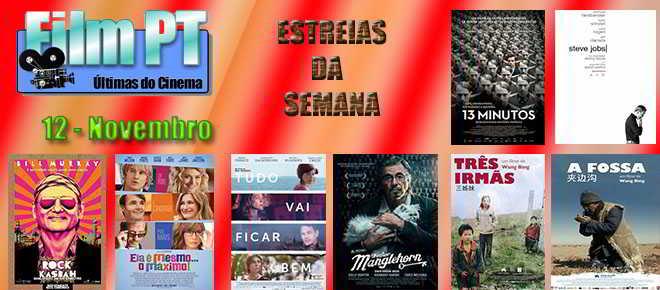 Estreias de Filmes da Semana: 12 de novembro de 2015