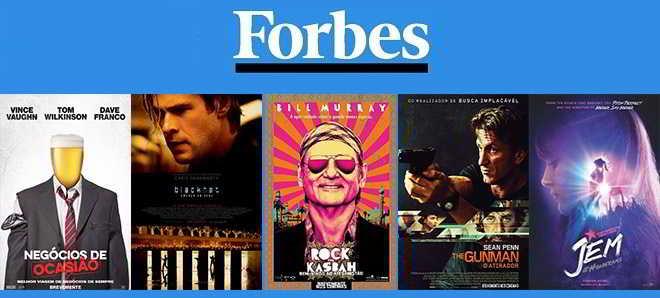 Forbes divulgou uma lista dos dez maiores fracassos do cinema em 2015