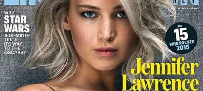 Jennifer Lawrence: Eleita artista do ano vai realizar o primeiro filme