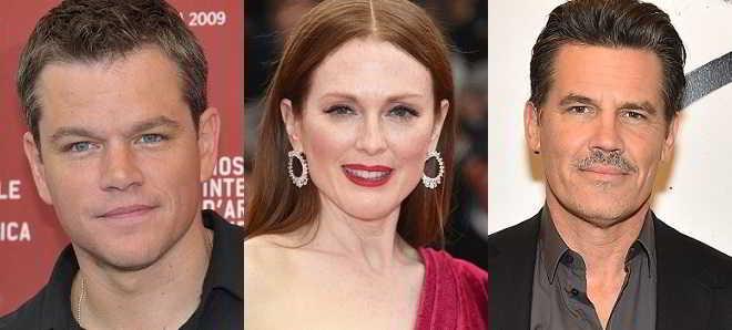 Matt Damon, Julianne Moore e Josh Brolin em negociações para 'Suburbicon'