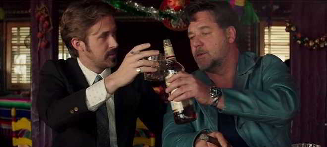 Veja Russell Crowe e Ryan Gosling no trailer de 'The Nice Guys'