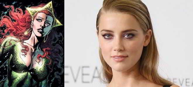 Amber Heard vai ser a protagonista feminina de 'Aquaman'