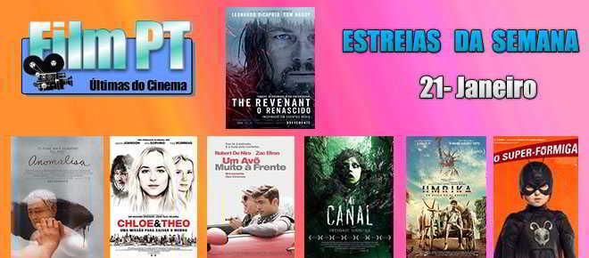 Estreias de Filmes da Semana: 21 de janeiro de 2016