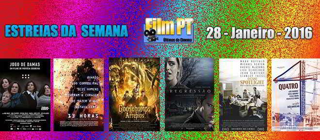Estreias de Filmes da Semana: 28 de janeiro de 2016
