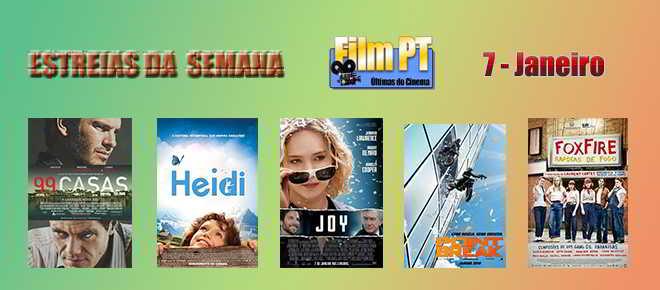 Estreia de Filmes da Semana: 7 de janeiro de 2016