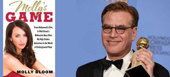 Aaron Sorkin vai estrear-se na realização com o drama 'Molly's Games'
