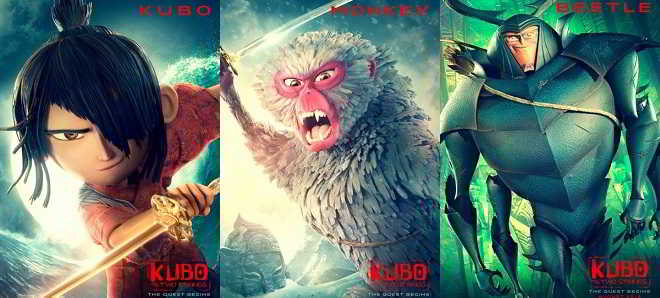 posters e trailer Kubo and the two strings