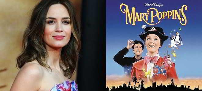 Emily Blunt em negociações para protagonizar a sequência de 'Mary Poppins'