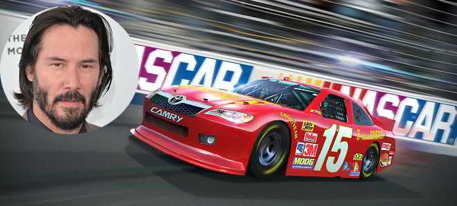 Keanu Reeves vai ser um piloto das corridas NASCAR em 'Rally Car'