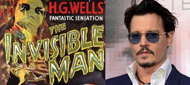 Remake de 'O Homem Invisível' terá Johnny Depp como protagonista