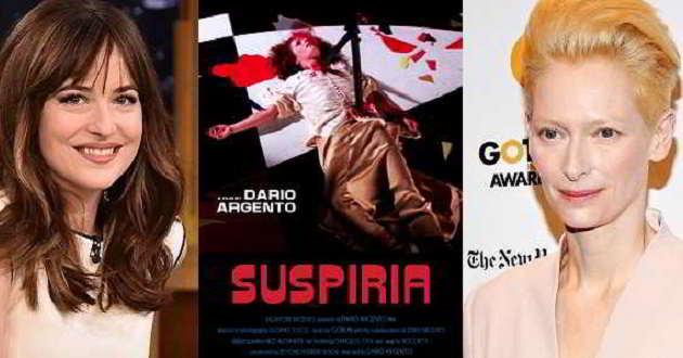 Dakota Johnson e Tilda Swinton vão protagonizar o remake de 'Suspiria'