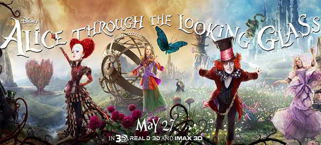 Novos posters oficiais de personagens de 'Alice do Outro Lado do Espelho'