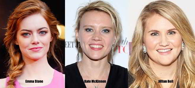 Emma Stone, Kate McKinnon e Jillian Bell na comédia 'Women in Business'