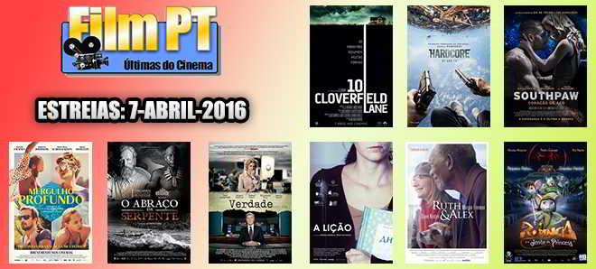 Estreias de Filmes da Semana: 7 de abril de 2016