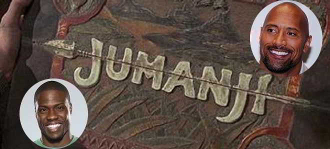 Dwayne Johnson e Kevin Hart em negociações para o remake de 'Jumanji'