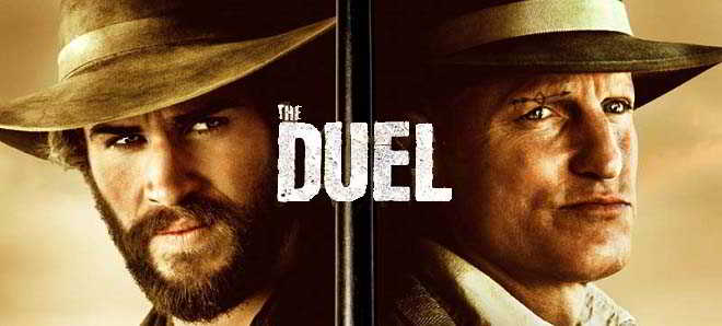 Liam Hemsworth e Woody Harrelson no trailer do western 'The Duel'