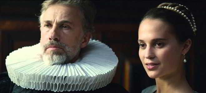 Alicia Vikander e Christoph Waltz no trailer oficial de 'Tulip Fever'