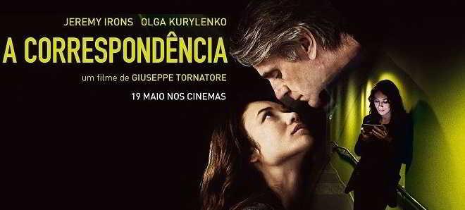 Trailer em português de 'A Correspondência' com Jeremy Irons e Olga Kurylenko