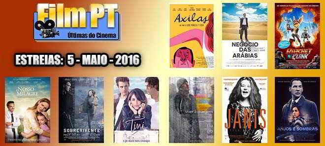 Estreias de Filmes da Semana: 5 de maio de 2016
