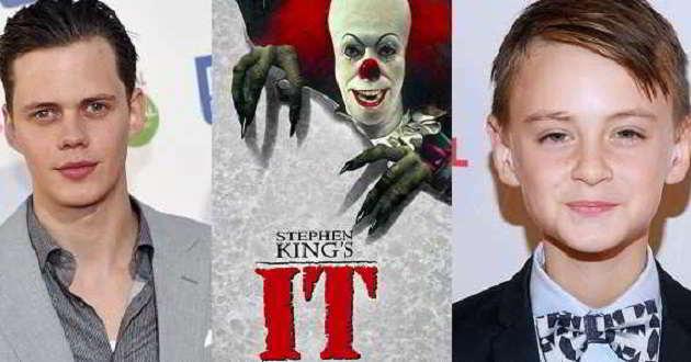 Bill Skarsgard e Jaeden Lieberher são os protagonistas de 'It – Palhaço Assassino'