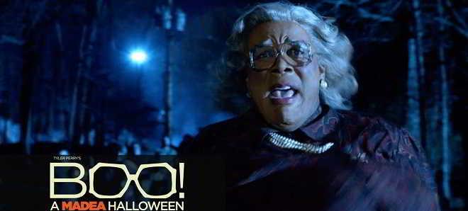 Tyler Perry no trailer da comédia de terror 'Boo! A Madea Halloween'