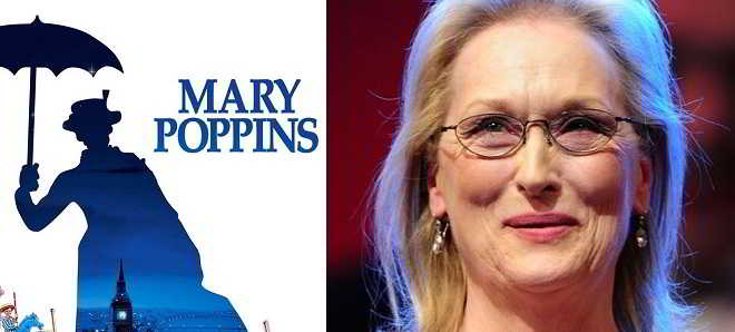Meryl Streep confirmada no elenco da sequela 'Mary Poppins Returns'